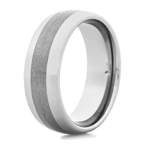 Men's Dual Finish Tungsten Ring