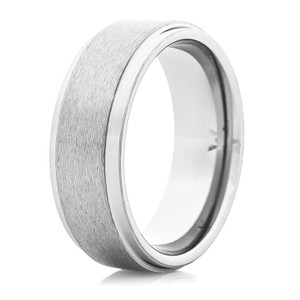 Men's Brushed Satin Finish Tungsten Wedding Band
