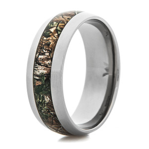 Men's Titanium Realtree® Xtra Green Camo Ring