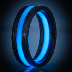 Blue Glow Sidecut Carbon Fiber Ring