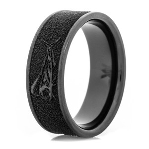 Men's Black Zirconium  Mahi-Mahi Fish Ring