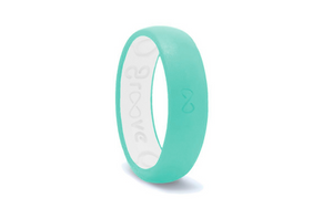 Turquoise Groove Original Narrow Silicone Ring
