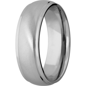 Customizable Titanium Wedding Ring with Step Down Edge