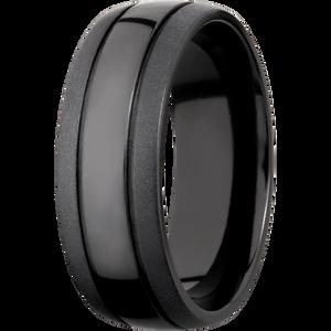 Two Tone Finished Customizable Black Wedding Ring