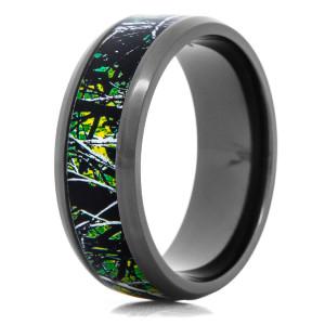 Men's Moonshine Toxic Green Camo Ring
