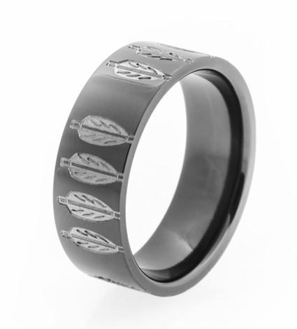 Diamond Arrow Engagement And Wedding Ring Set Archer