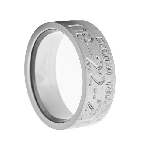 men s banded together duck band wedding ring titanium buzz