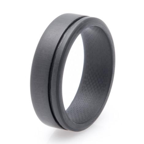Mens Simplex Carbon Fiber Wedding Ring TitaniumBuzz