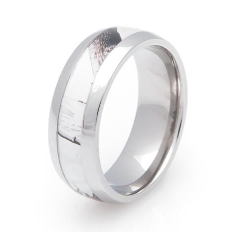 Menu0027s Titanium Realtree® AP Snow Camo Wedding Ring