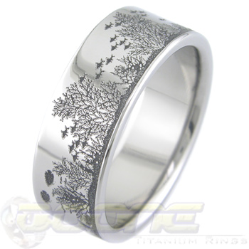 Titanium aquatic fishing wedding band titanium buzz for Fishing wedding band