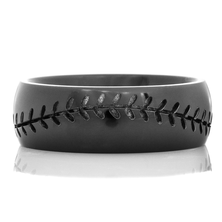 Men's Black Baseball Ring