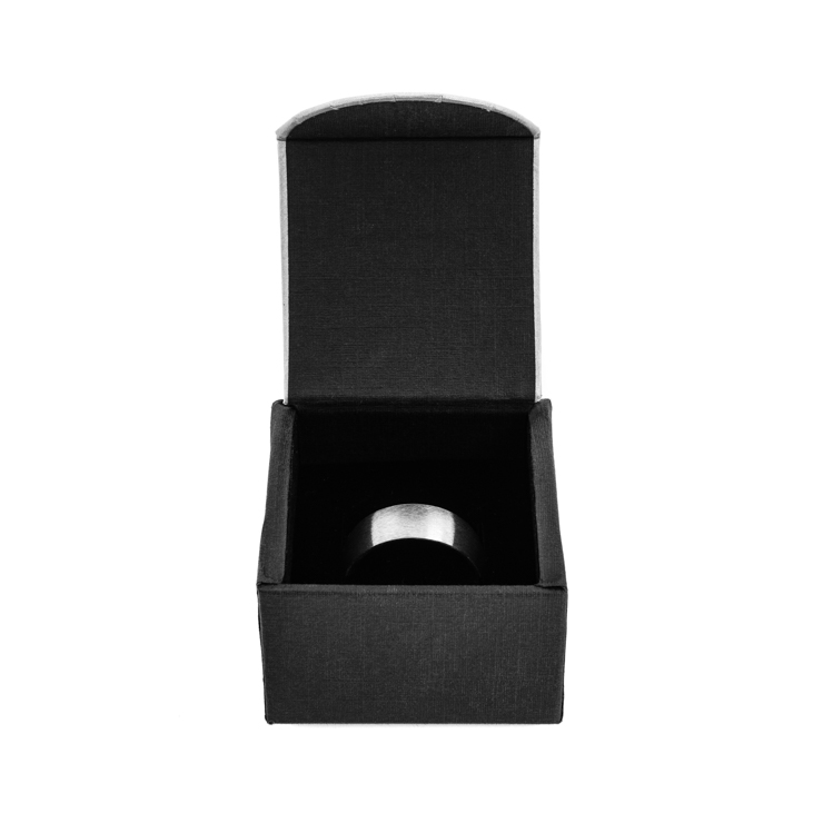 Men's Black Zirconium Camo Cross Ring