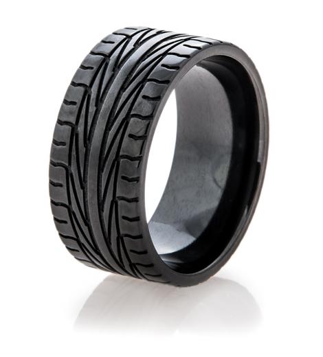 Men S Black Goodyear Assurance Ring Titanium Buzz