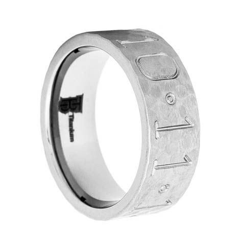 hammered titanium duck band wedding ring titanium buzz
