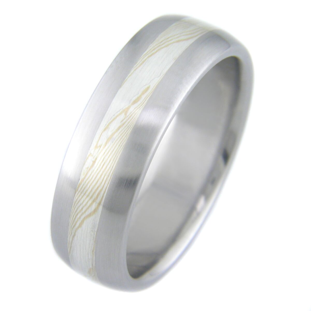 titanium rings wedding blue ring edges products mokume band with wavy gane