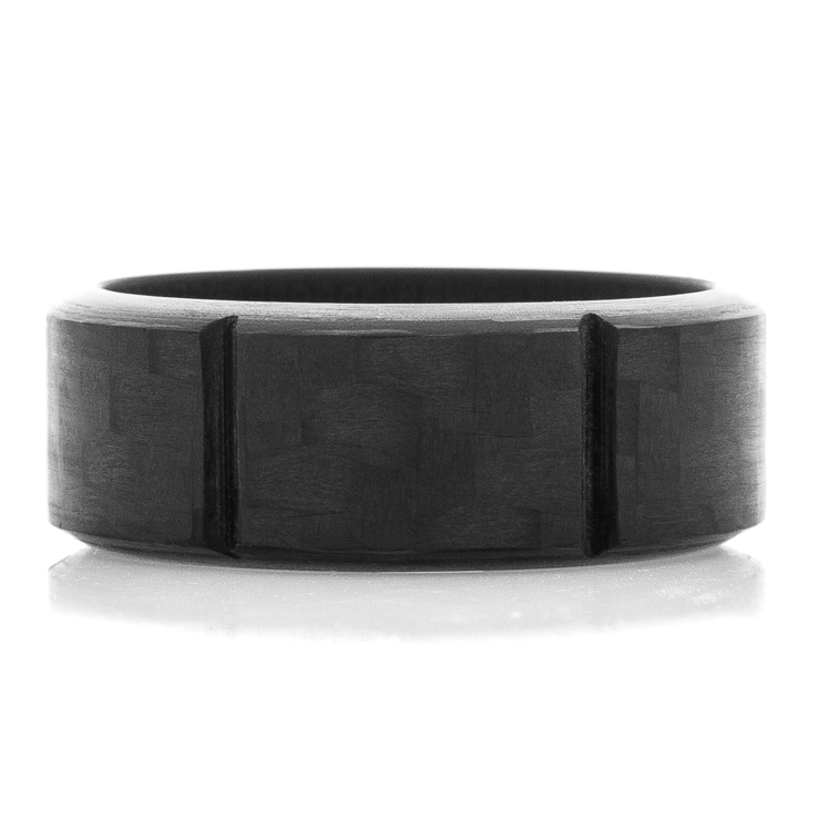 Men's Segmented Carbon Fiber Ring