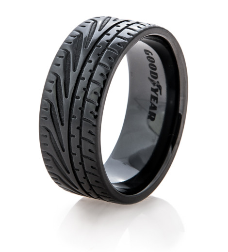 Silicone Wedding Band >> Goodyear Eagle F1 Supercar Tire Wedding Ring - Titanium-Buzz