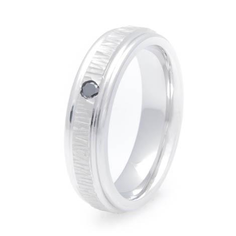 Women S Treebark Cobalt Chrome Black Diamond Ring