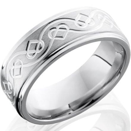 Celtic Heart Cobalt Wedding Band Whimsical Elegance By