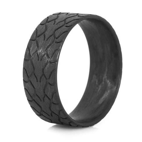 Men S Carbon Fiber Drag Radial Ring Titanium Buzz