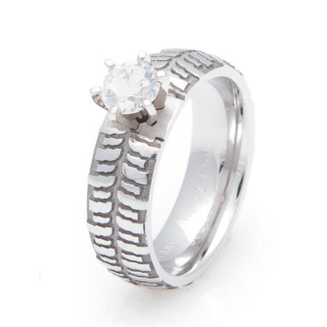 Cobalt Chrome Mud Bogger Engagement Ring Titanium Buzz