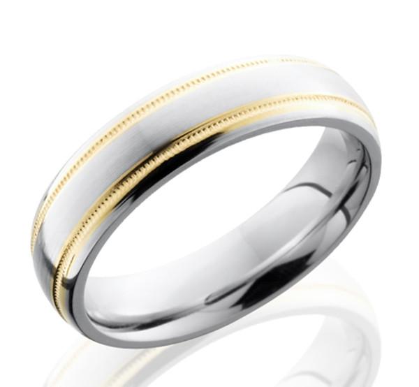 Dual Gold Cobalt Men S Ring Cobalt Metal Rings By