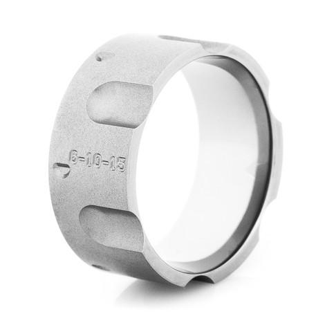 Men S Gunmetal Titanium Revolver Ring Titanium Buzz