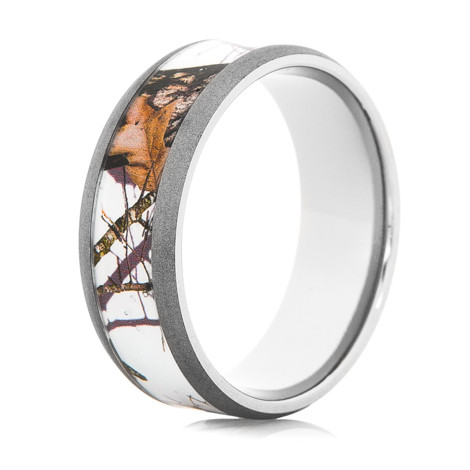 Menu0027s Mossy Oak Snow Camo Ring ...