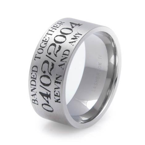 Duck bands wedding rings