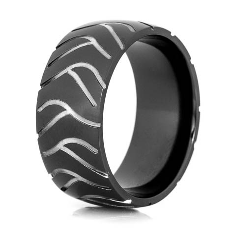 Men S Black Super Cycle Motorcycle Ring Titanium Buzz