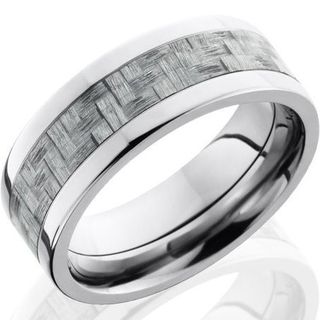 Mens Titanium Ring with Texalium Inlay TitaniumBuzz