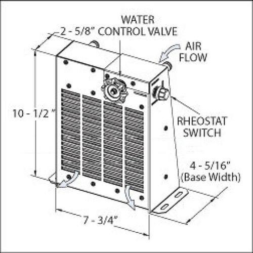 floor mounted universal cab heater - 212014