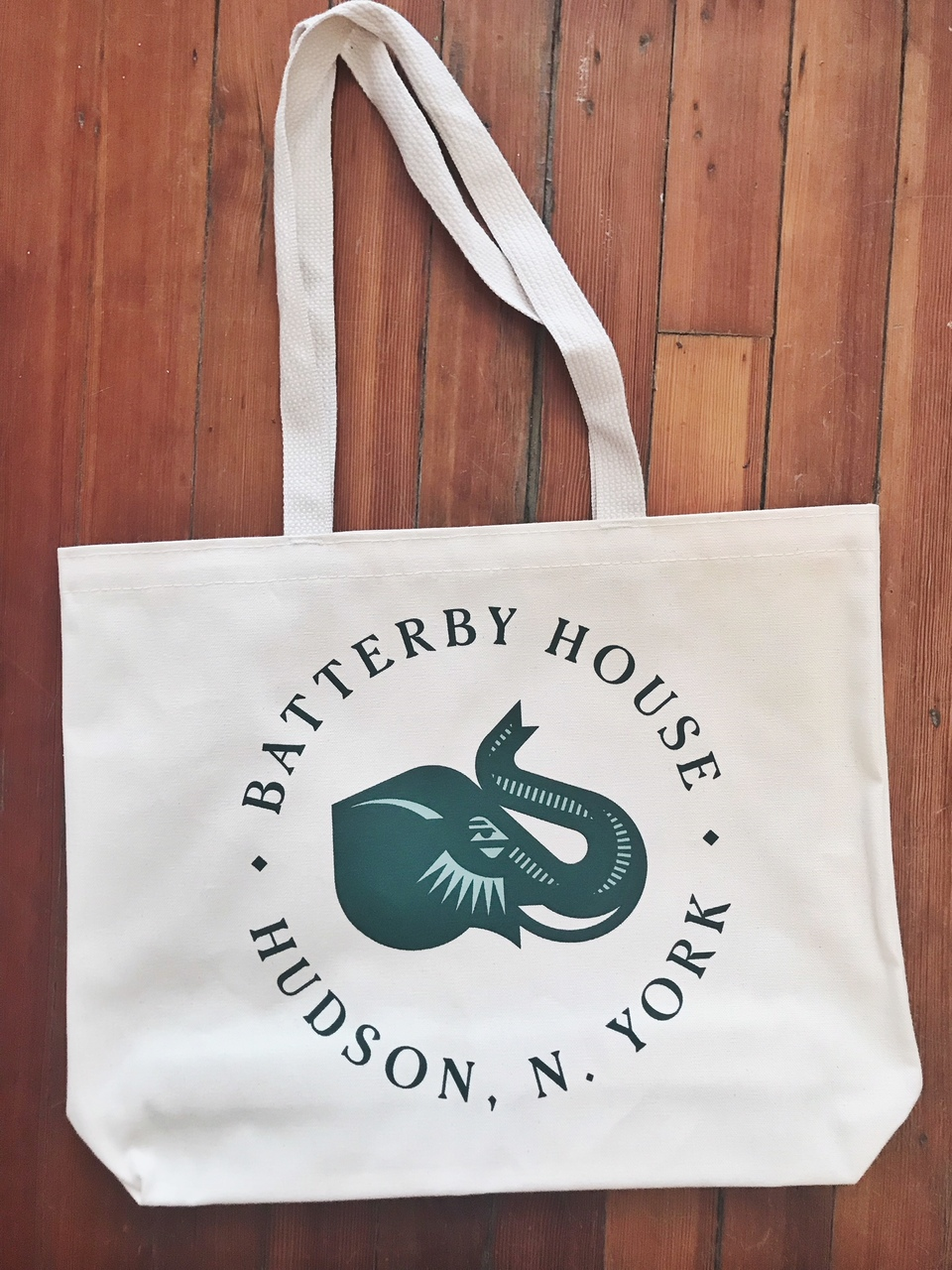 Batterby House Cotton Logo Tote