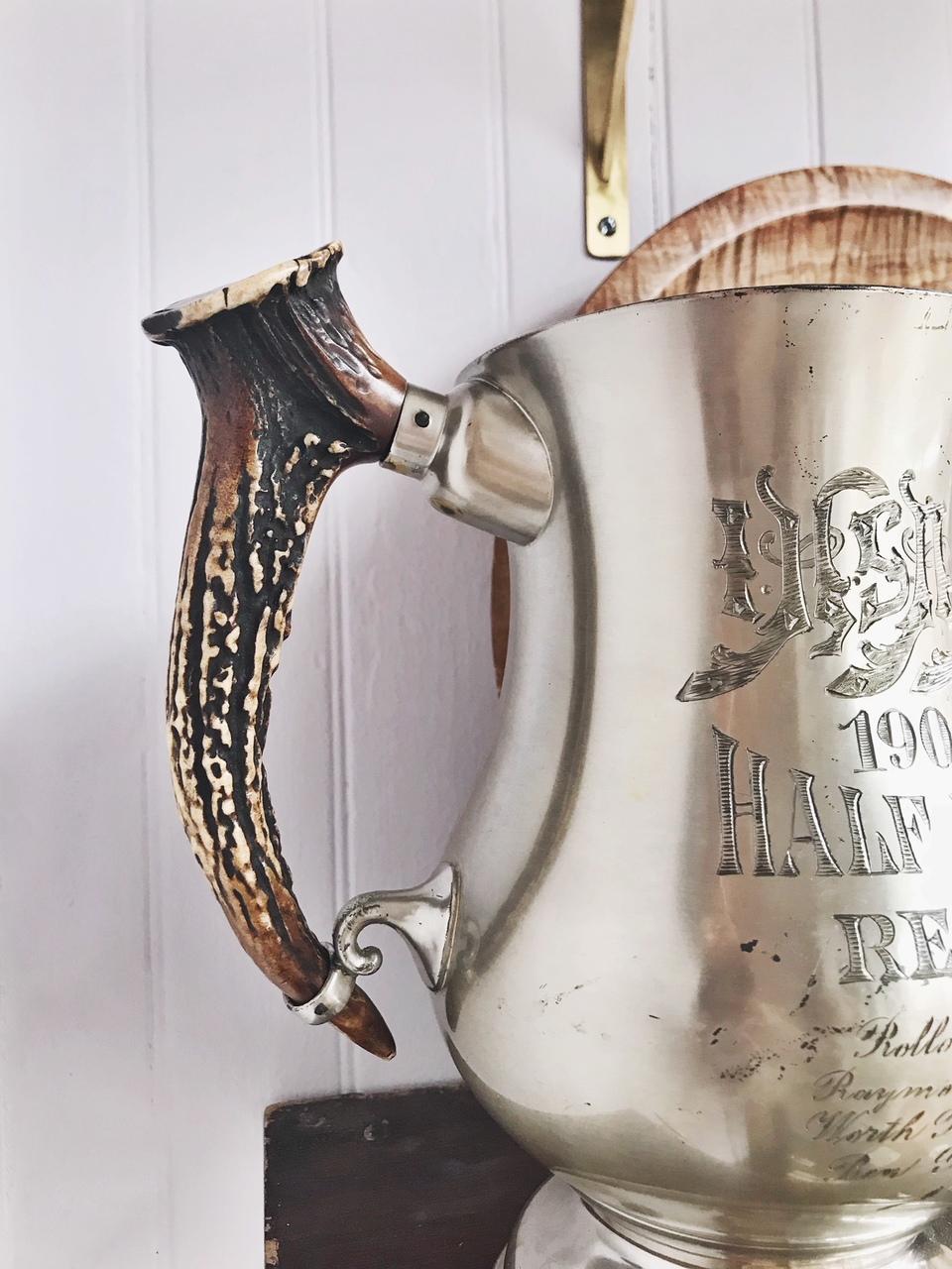 Antique 1908 Trophy with Antler Handles