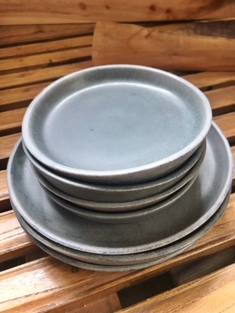 Stone Blue Banded Plate