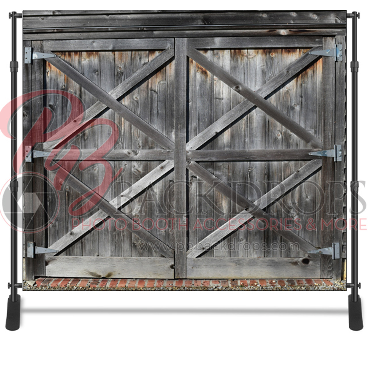 8x8 Printed Tension Fabric Backdrop Barn Door Pb Backdrops