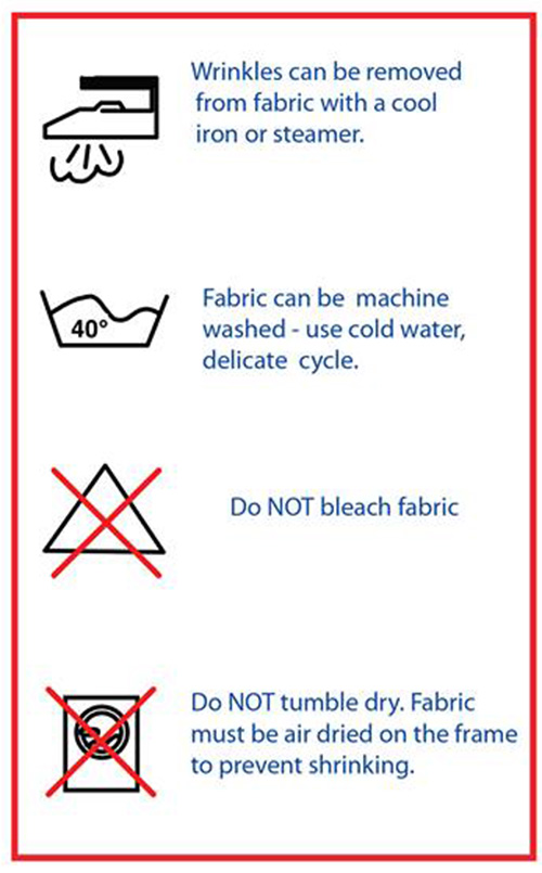 Backdrop Care Instructions