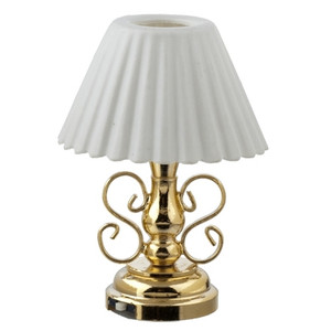 LED  Battery Powered Table Lamp with Fluted Shade