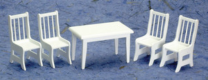 Kitchen Table Set  of 5 (white)