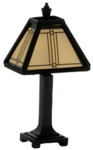 Craftsman Tiffany Lamp, Black