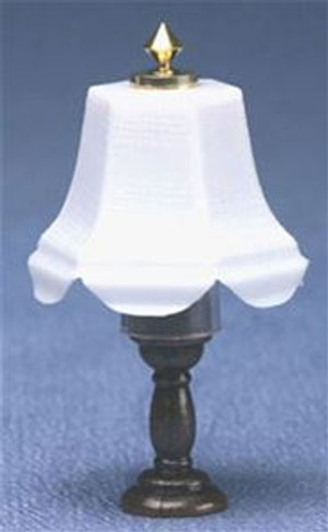White Shaded Table Lamp - Bronze Base