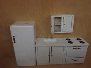 4 Piece White Kitchen Set