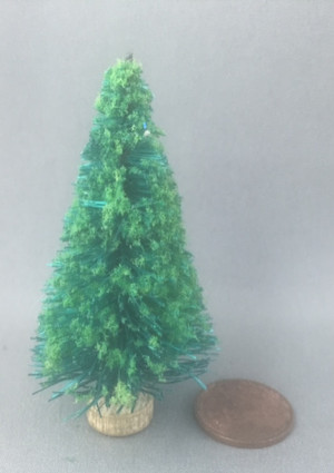 "2 1/2"" Flocked Christmas Tree - Undecorated"