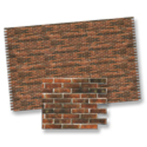 1/24 Scale Brick Paper - Dark