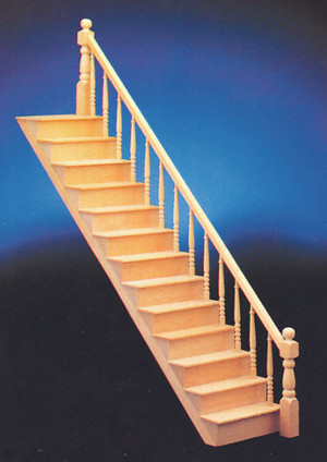 Classics Straight Staircase Kit with Railing