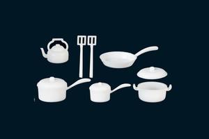 White Plastic Pot & Pan Set