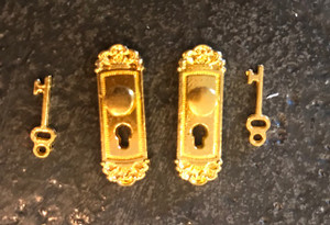 Brass Door Knobs with Keys