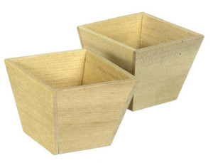 Pair of Wooden Planters
