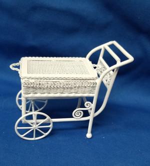 Alice Lacy White Wire Tea Cart
