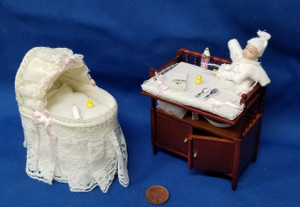 Reutter Porzellan Bassinet & Change Table Set